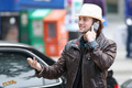 Jackson on the phone in Vancouver - twilight-series photo