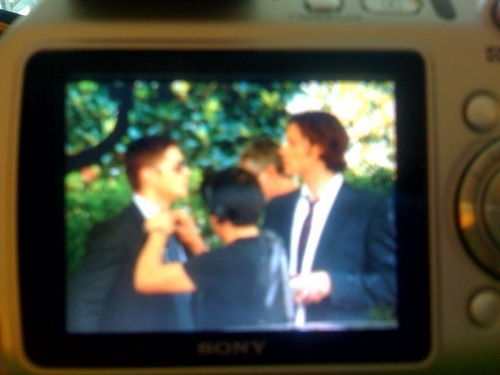 Jared on set SPN