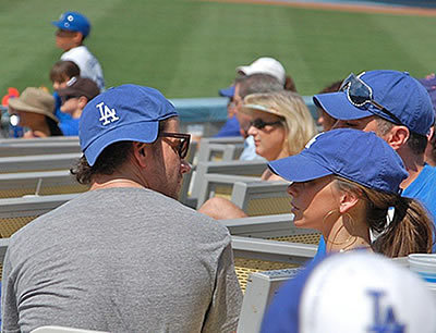 Jen w/ Jamie @ Los Angeles Dodgers Game