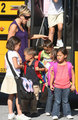 Kate Gosselin Wednesday, as she picked up her kids from school