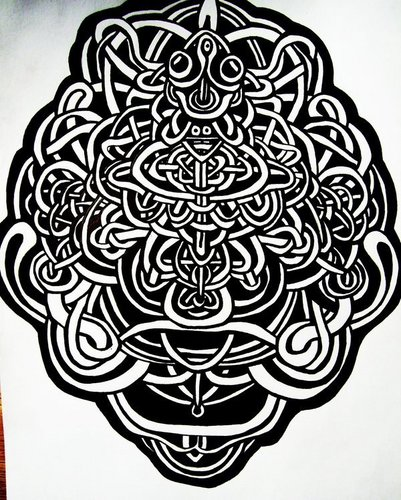 Drawing वॉलपेपर containing a red cabbage entitled Knotwork