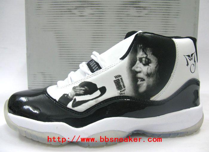 Michael Memorial Jordan Sneakers Michael-Jackson-Memorial-black-and-white-jordan-sneakers-michael-jordan-8019788-700-507