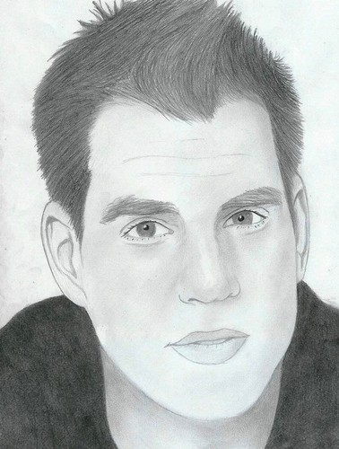 Drawing wallpaper containing a portrait entitled Michael Weatherly NCIS