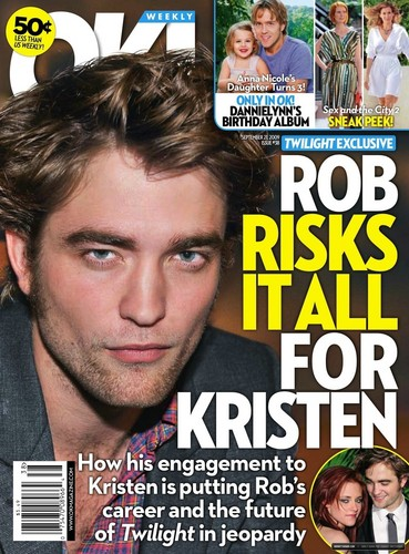 OK Mag cover for 21st september (OMG rob is looking hot on this pic)
