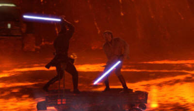Obi wan and anakin duel