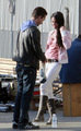 On Set of Transformers Revenge of the Fallen - megan-fox-and-shia-labeouf photo