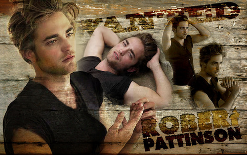 "Robert Pattinson wallpaper possibly containing a sign entitled Pattinson ""Wanted"" wallpaper"