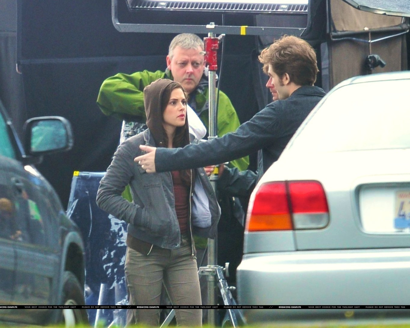 Rob & kristen on the set of Eclipse yesterday
