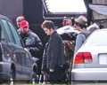 Rob & kristen on the set of Eclipse yesterday  - twilight-series photo