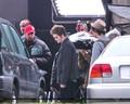 Rob & kristen on the set of Eclipse yesterday  - twilight-series photo