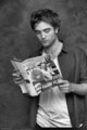 Rob reading some magazine :) - twilight-series photo