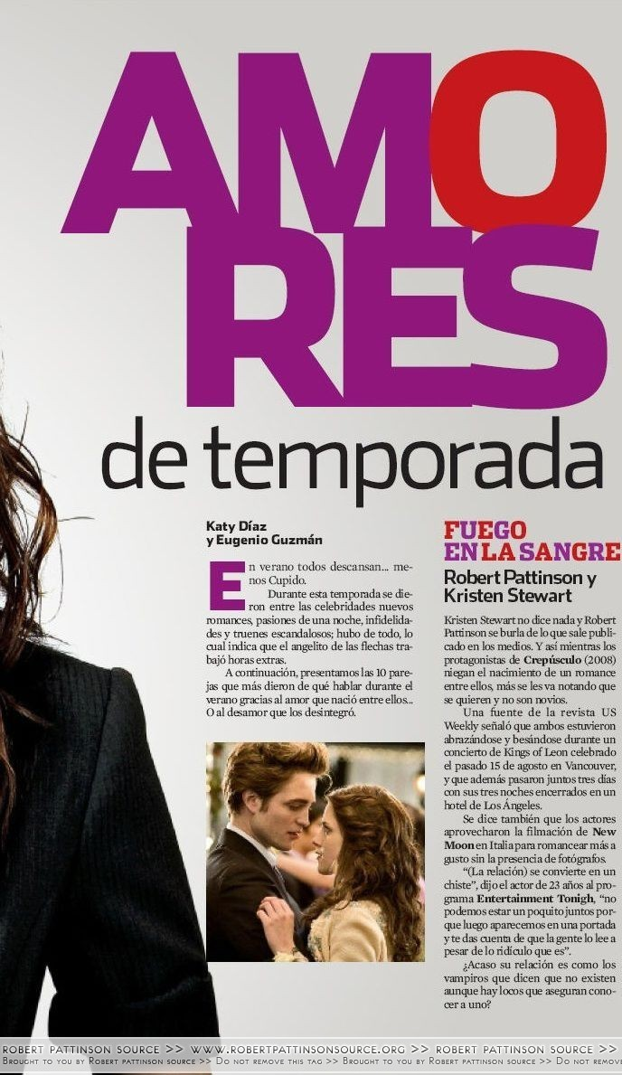 Robert & Kristen on 上, ページのトップへ Mag (September 09)