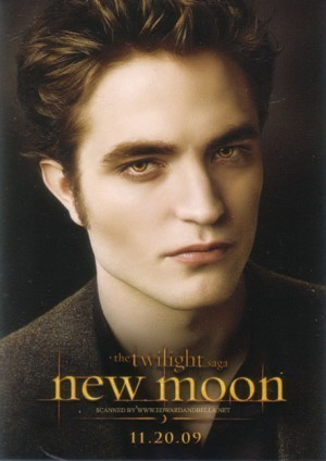 Latest Robert Pattinson on Robert Pattinson  New Moon Posters    New Moon Photo  8036658