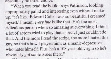 Robert Pattison interview