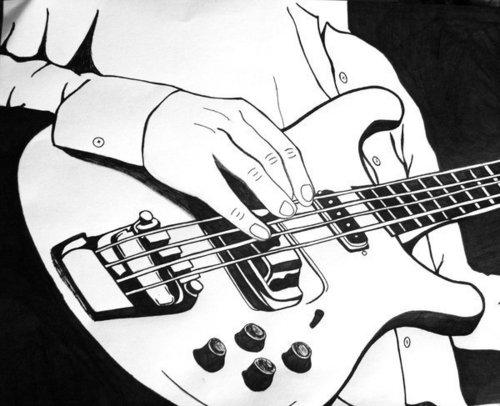 Drawing দেওয়ালপত্র called Rock N Roll