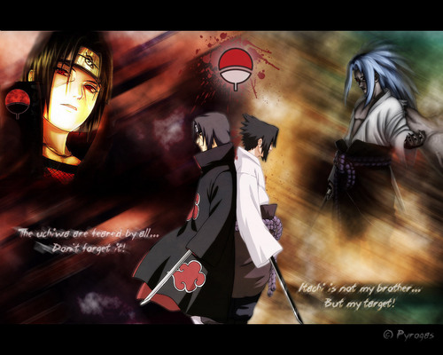 Itachi Uchiha wallpaper with anime titled Sasuke&Itachi