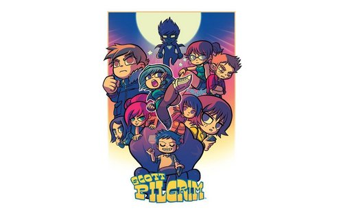 Scott Pilgrim 바탕화면 probably with 아니메 called Scott Pilgrim Widescreen 바탕화면