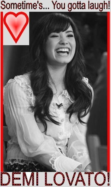 Sometime's... You gotta laugh! DEMI LOVATO!