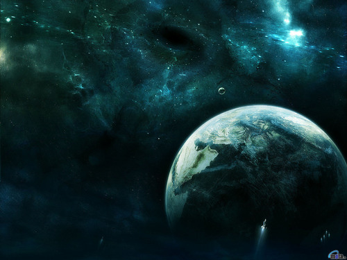 Space Art karatasi la kupamba ukuta (Sci-Fi)