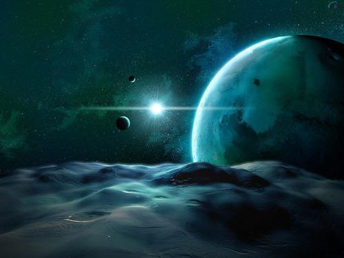 अंतरिक्ष Art वॉलपेपर (Sci-Fi)