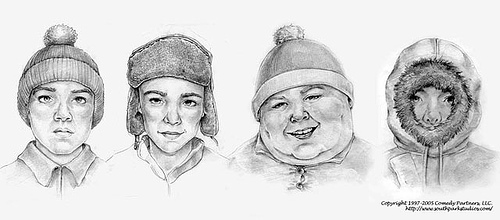 Stan, Kyle, Cartman and Kenny