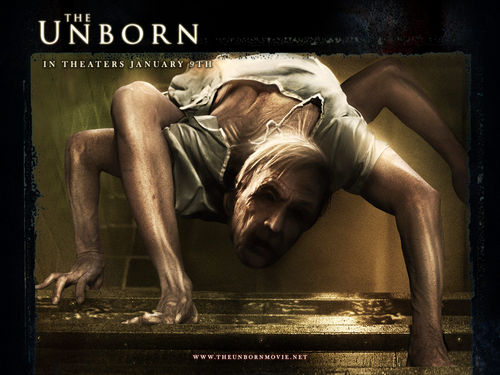 Horror films achtergrond titled The Unborn