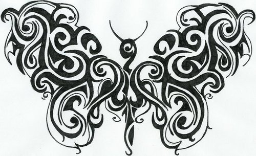 Tribal mariposa