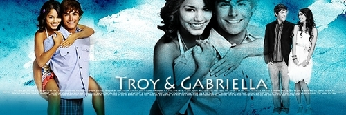 High School Musical 3 kertas dinding possibly with a portrait and Anime called Troy & Gabriella