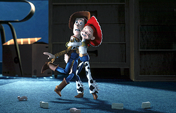 Toy Story wallpaper entitled Woody and Jessie