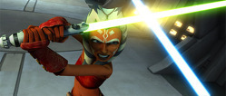 ahsoka fignting