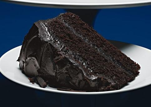Schokolade cake with frosting