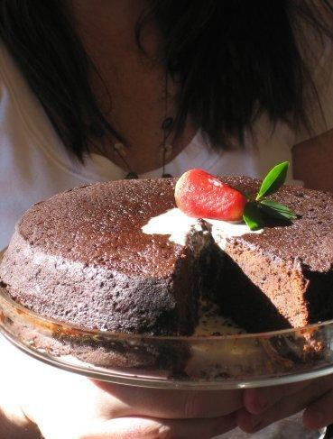 Schokolade cake with no frosting