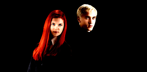 Draco and Ginny wallpaper probably containing a portrait called draco&ginny