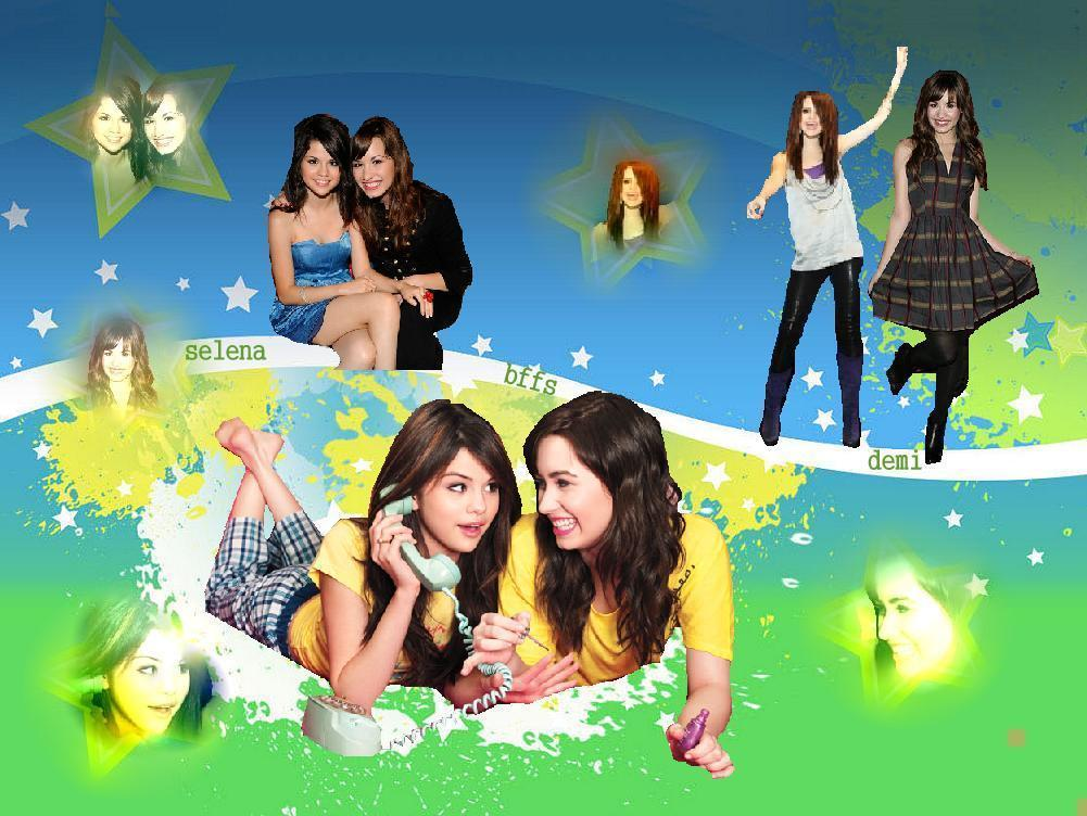 fan art my sis made selena gomez and demi lovato fan art 8027933 fanpop. Black Bedroom Furniture Sets. Home Design Ideas