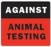 help animal testing! - against-animal-testing icon