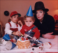 michael and babies - michael-jackson photo