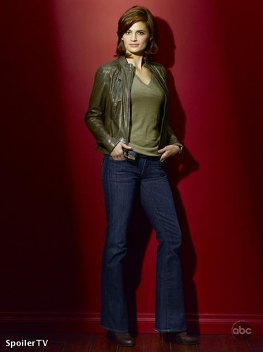 Stana Katic fond d'écran with a pantleg, long trousers, and bellbottom trousers entitled season 2