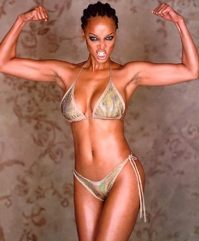 tyra banks wallpaper with a bikini entitled stronger