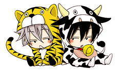 tiger and cow~