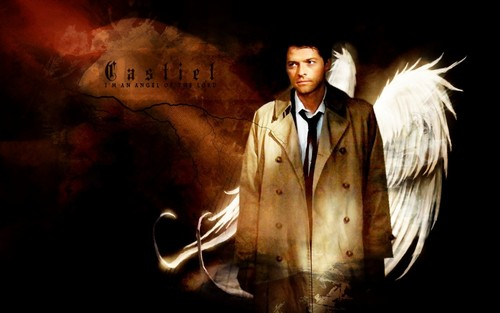 Castiel वॉलपेपर possibly containing a business suit and a well dressed person called *SPN Castiel*