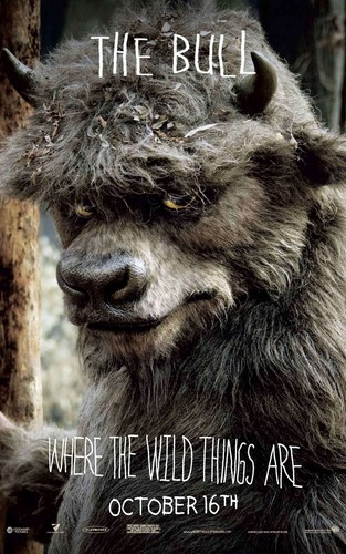 'Where The Wild Things Are' Movie Poster ~ The सांड, बैल