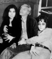 Andy with John & Yoko - andy-warhol photo