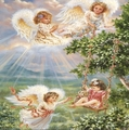 Angels at Play - angels photo