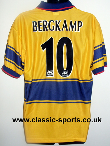 Bergkamp 10 Arsenal 衬衫