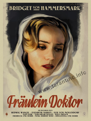 "Inglourious Basterds fond d'écran possibly with animé and a portrait titled Bridget von Hammersmark in ""Fraulein Doktor"""