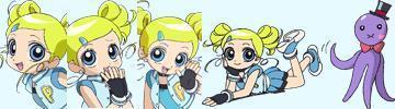 Bubbles (PowerPuff Girls) kertas dinding probably with Anime titled Bubbles