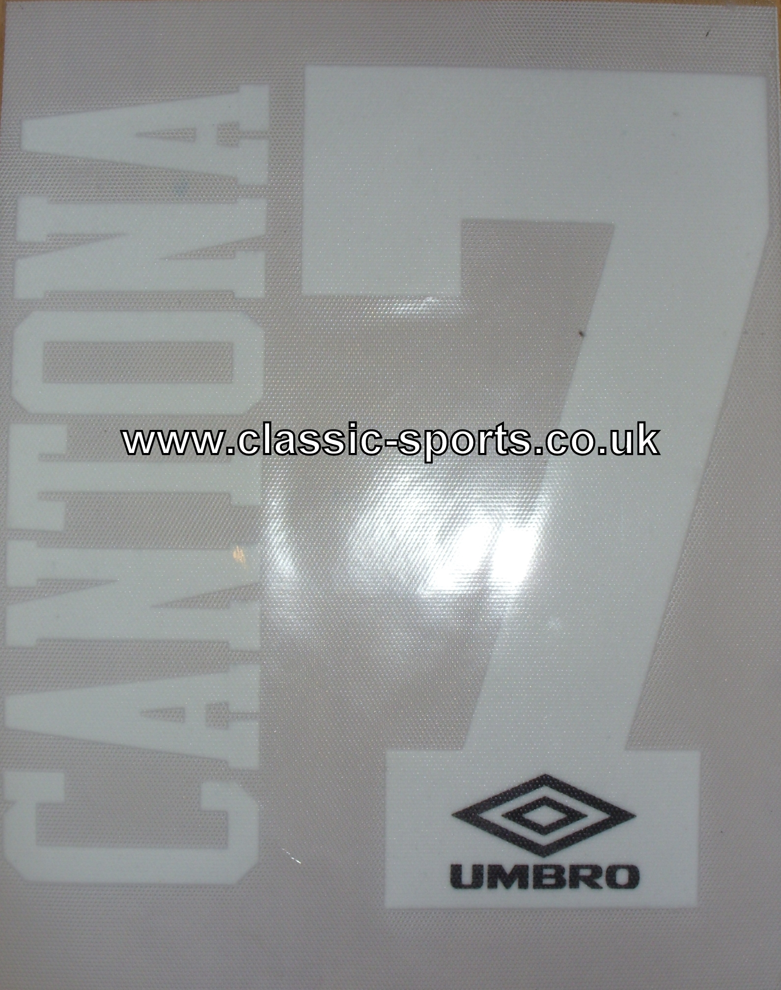 Cantona 7 Name + Number