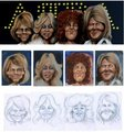 Caricature - abba fan art