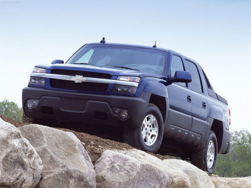 Chevrolet Обои probably with a sport utility and a tailgate titled Chevrolet Avalanche (2002)