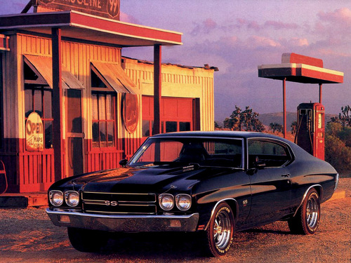 Chevrolet wallpaper with a sedan and a coupe entitled Chevrolet Chevelle SS